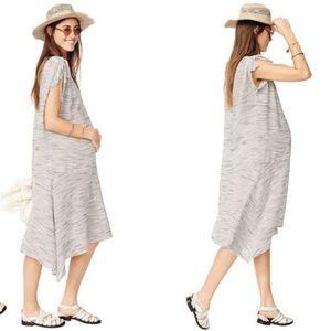 Hatch Gatsby Maternity Striped V Neck Shift Dress